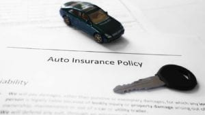 Auto Insurance Policy Stock Photo