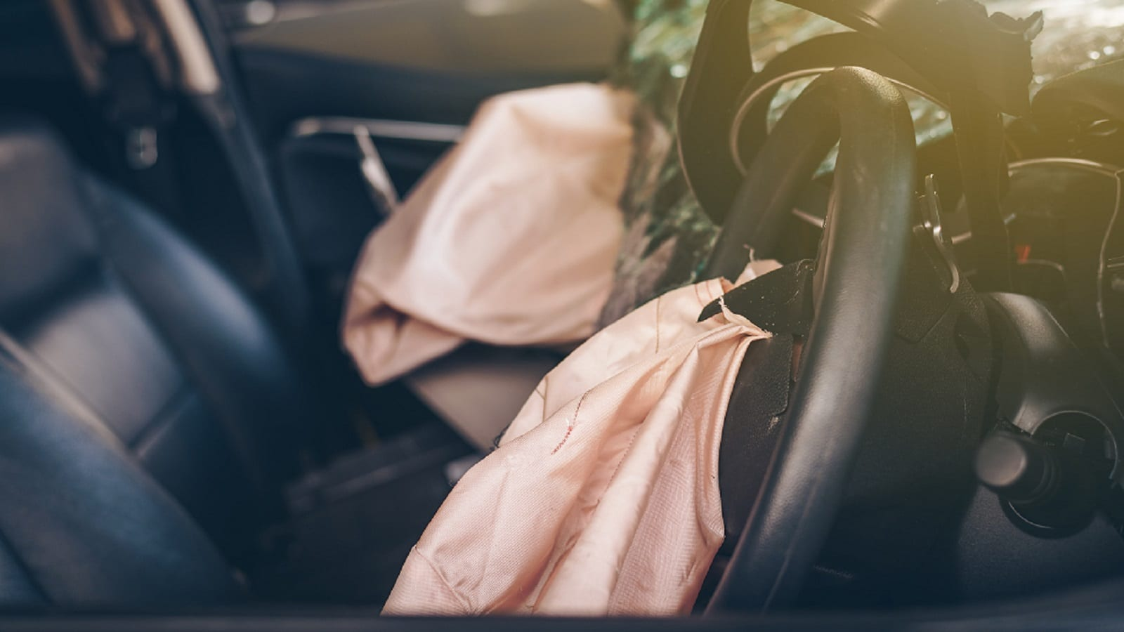 Deflated Airbag Stock Photo