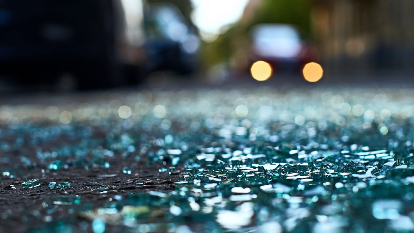 Shattered Car Glass Stock Photo