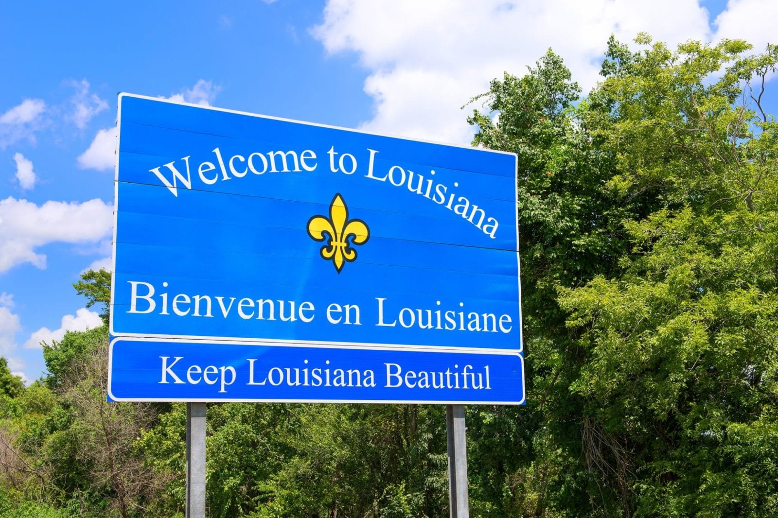 Welcome To Louisiana Sign Stock Photo