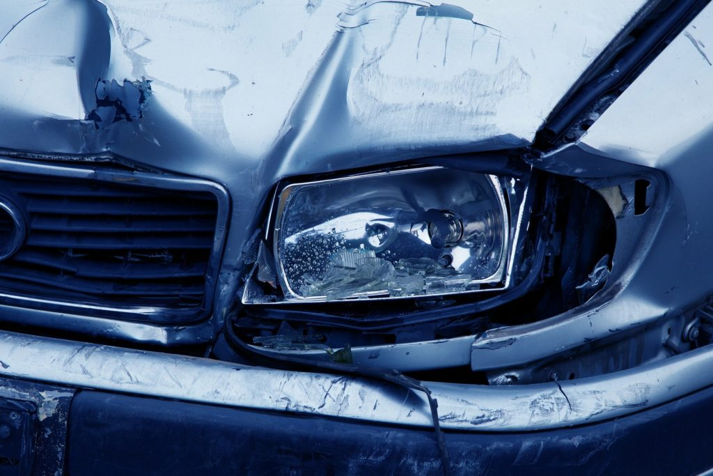car that has been in a car accident