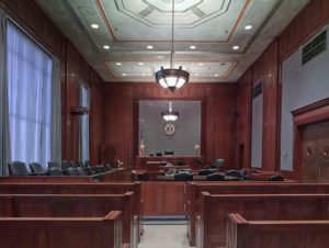 car accident lawyer's court room