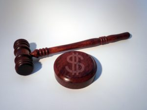 car accident lawyer's gavel