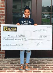 Miah Walton Blaine Barrilleaux Scholarship Winner Spring 2020