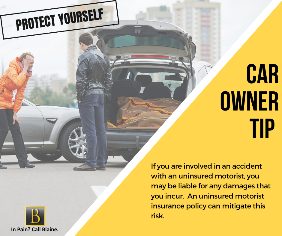 uninsured motorist car accident tip