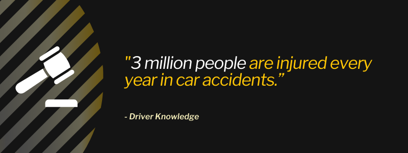 """""""3 million people are injured every year in car accidents."""""""
