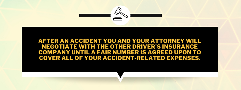 Fact about negotiating accident-related expenses with other driver's insurance when in an accident