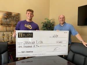 Josh Listi Scholarship Winner